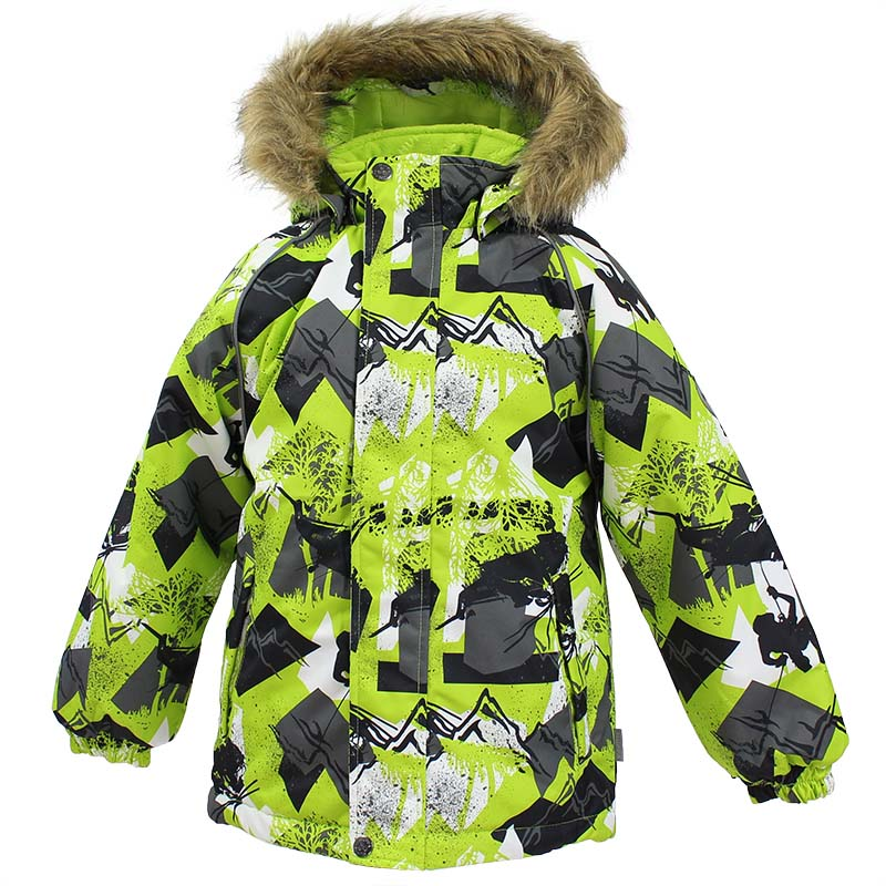 Куртка детская Huppa Marinel, цвет: лайм. 17200030-72547. Размер 12217200030-72547Детская куртка Huppa изготовлена из водонепроницаемого полиэстера. Куртка застегивается на застежку-молнию и кнопки. Модель дополнена отстегивающимся капюшоном с мехом. Края рукавов собраны на внутренние резинки. У модели имеются два врезных кармана. Изделие дополнено светоотражающими элементами.