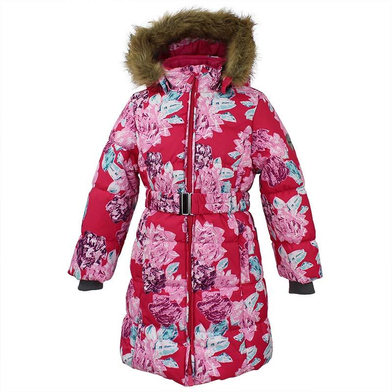 Пальто для девочки Huppa Yacaranda, цвет: фуксия. 12030030-71563. Размер 12812030030-71563Стильное пальто для девочки Huppa идеально подойдет для ребенка в прохладное время года. Модель изготовлена из полиэстера.Пальто с капюшоном и небольшим воротником-стойкой застегивается на застежку-молнию с двумя бегунками и дополнительно имеет внутренний ветрозащитный клапан, а также защиту подбородка. Капюшон оформлен мехом. Низ рукавов дополнен эластичными манжетами, не стягивающими запястья. Спереди модель дополнена двумя втачными карманами. Пальто дополнено съемным эластичным поясом.