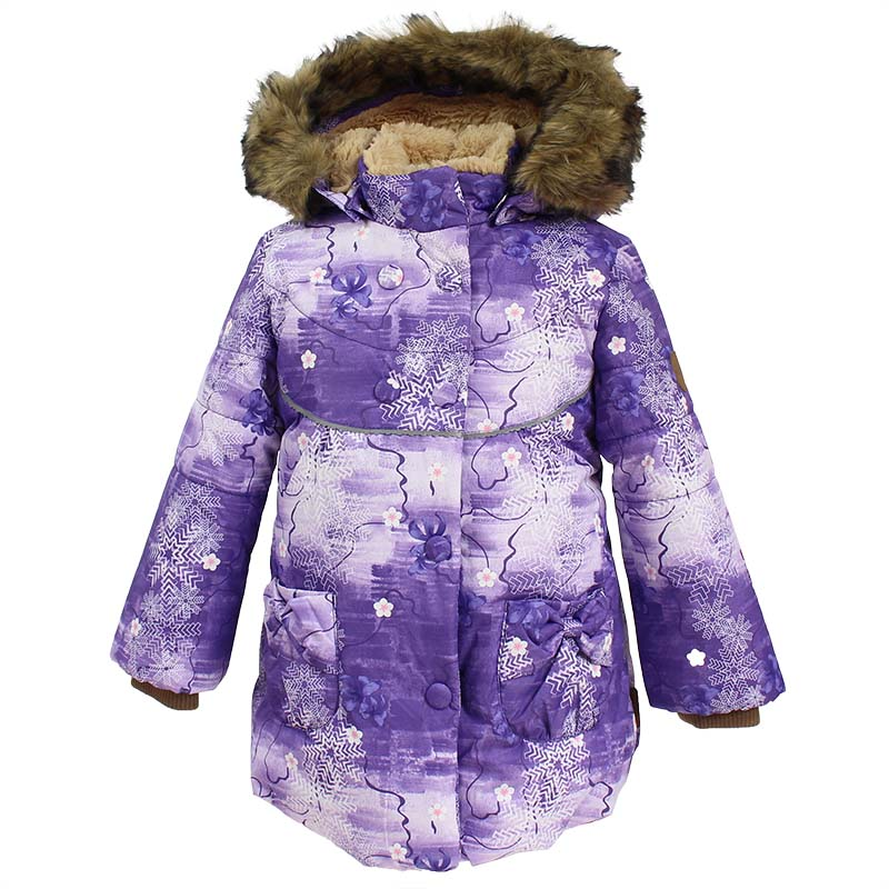 Куртка для девочки Huppa Olivia, цвет: лилoвый. 17890030-71353. Размер 11017890030-71353Куртка для девочки Huppa изготовлена из водонепроницаемого полиэстера. Куртка с капюшоном застегивается на застежку-молнию и кнопки. Модель дополнена отстегивающимся капюшоном с мехом. Изделие дополнено светоотражающими элементами.