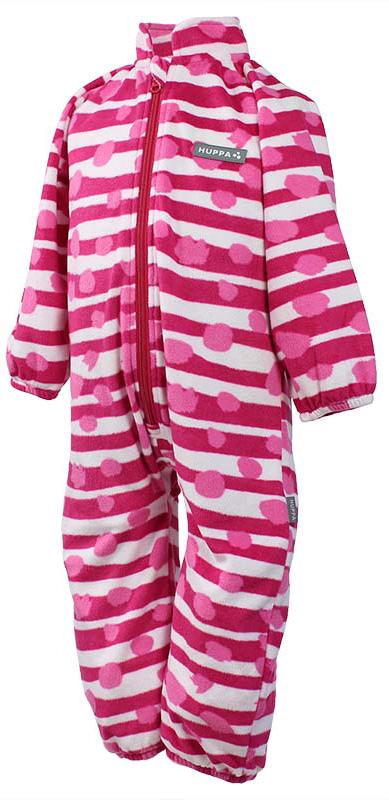 Комбинезон флисовый детский Huppa Roland, цвет: фуксия, белый, розовый. 3304BASE-63363. Размер 1163304BASE-63363Детский комбинезон Huppa Roland - очень удобный и практичный вид одежды для малышей. Комбинезон выполнен из флиса, благодаря чему он необычайно мягкий и приятный на ощупь, не раздражает нежную кожу ребенка и хорошо вентилируется. Комбинезон с длинными рукавами и воротником-стойкой застегивается на пластиковую молнию с защитой подбородка. Рукава и штанины дополнены эластичными резинками. Спереди модель дополнена небольшой нашивкой с названием бренда. С детским комбинезоном спинка и ножки вашего ребенка всегда будут в тепле.