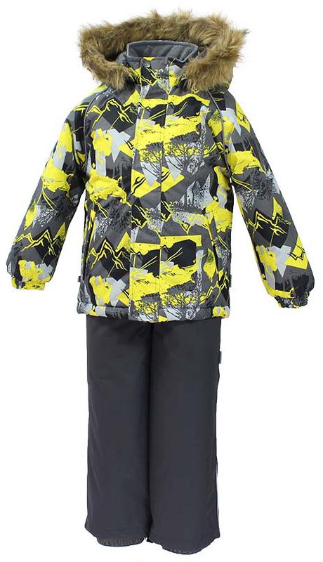 Комплект одежды детский Huppa Winter: куртка, полукомбинезон, цвет: серый. 41480030-72548. Размер 14041480030-72548Комплект одежды Huppa Winter состоит из куртки и полукомбинезона. Куртка оснащена ветрозащитной планкой по всей длине и безопасным съемным капюшоном. Полукомбинезон очень практичен: хорошо закрывает грудку и спинку ребенка, широкие эластичные регулируемые лямки. Вечерние прогулки в этом костюме будут не только приятными, но и безопасными благодаря светоотражающим элементам на куртке и полукомбинезоне.