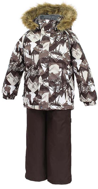 Комплект одежды детский Huppa Winter, цвет: коричневый. 41480030-72581. Размер 11041480030-72581Детский комплект WINTER. Водо и воздухонепроницаемость 10 000. Утеплитель 300 гр куртка / 160 гр брюки. Подкладка Тафта, флис 100% полиэстер. Швы проклеены. Отстегивающийся капюшон. Манжет рукавов на резинке. Внутренняя снегозащита брюк. Регулируемые низы. Резиновые подтяжки. Имеются светоотражательные детали.