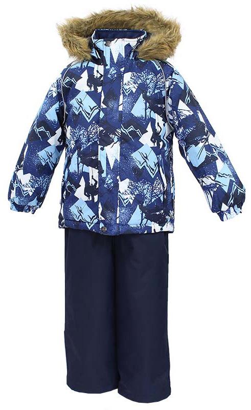 Комплект одежды для мальчика Huppa Winter: куртка, полукомбинезон, цвет: темно-синий. 41480030-72586. Размер 12841480030-72586Комплект одежды Huppa Winter состоит из куртки и полукомбинезона. Куртка оснащена ветрозащитной планкой по всей длине и безопасным съемным капюшоном. Полукомбинезон очень практичен: хорошо закрывает грудку и спинку ребенка, широкие эластичные регулируемые лямки. Вечерние прогулки в этом костюме будут не только приятными, но и безопасными благодаря светоотражающим элементам на куртке и полукомбинезоне.