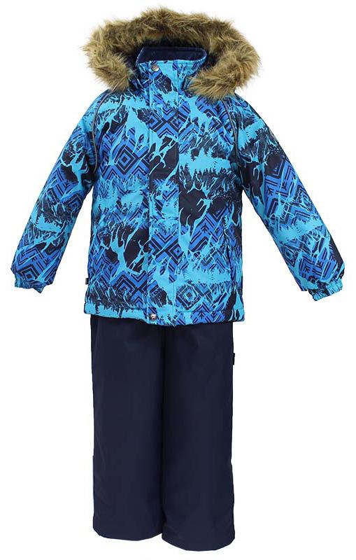 Комплект одежды для мальчика Huppa Winter: куртка, полукомбинезон, цвет: синий, темно-синий. 41480030-73435. Размер 14041480030-73435Комплект одежды Huppa Winter состоит из куртки и полукомбинезона. Куртка оснащена ветрозащитной планкой по всей длине и безопасным съемным капюшоном. Полукомбинезон очень практичен: хорошо закрывает грудку и спинку ребенка, широкие эластичные регулируемые лямки. Вечерние прогулки в этом костюме будут не только приятными, но и безопасными благодаря светоотражающим элементам на куртке и полукомбинезоне.