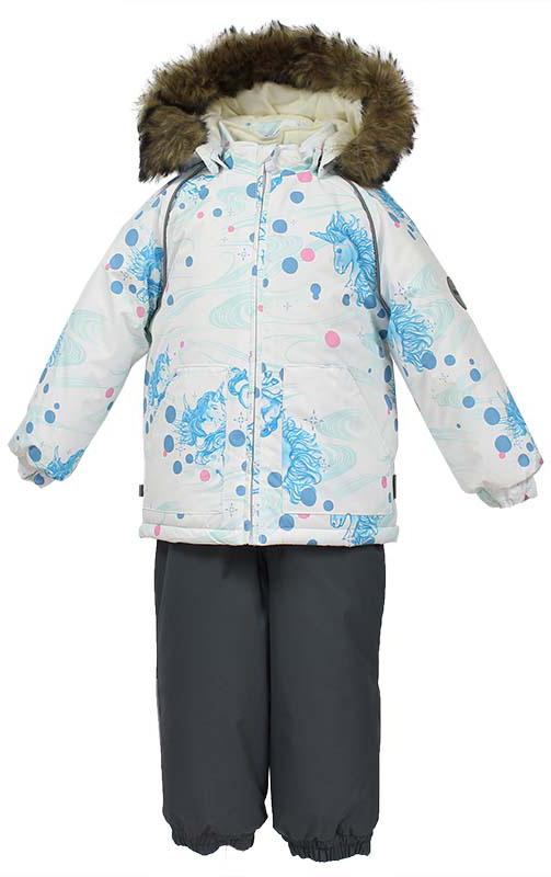 Комплект одежды детский Huppa Avery, цвет: белый, серый. 41780030-71120. Размер 10441780030-71120Комплект для малышей AVERY. Водо и воздухонепроницаемость 5 000 куртка / 10 000 брюки. Утеплитель 300 гр куртка/160 гр брюки. Подкладка фланель 100% хлопок. Отстегивающийся капюшон с мехом. Манжеты рукавов на резинке. Манжеты брюк на резинке. Добавлены петли для ступней. Резиновые подтяжки. Имеются светоотражательные элементы.