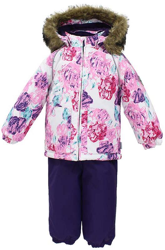 Комплект одежды для девочки Huppa Avery: куртка, полукомбинезон, цвет: белый, темно-лилoвый. 41780030-71520. Размер 8641780030-71520Комплект одежды для девочки Huppa Avery состоит из куртки и полукомбинезона. Куртка оснащена ветрозащитной планкой по всей длине молнии с защитой подбородка, вшиты резинки по низу куртки для лучшего прилегания. Полукомбинезон очень практичен: хорошо закрывает грудку и спинку ребенка, широкие эластичные регулируемые лямки. Вечерние прогулки в этом костюме будут не только приятными, но и безопасными благодаря светоотражающим элементам на куртке и полукомбинезоне.