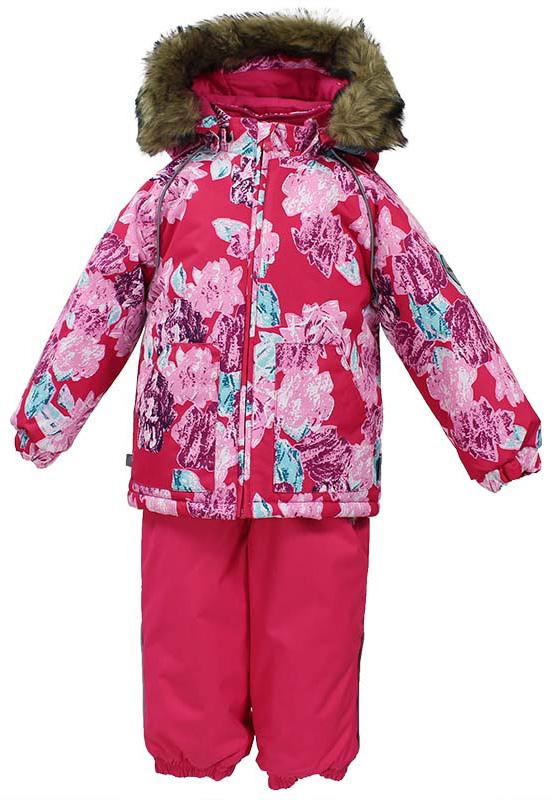 Комплект одежды для девочки Huppa Avery: куртка, полукомбинезон, цвет: фуксия. 41780030-71563. Размер 9841780030-71563Комплект одежды Huppa Avery состоит из куртки и полукомбинезона. Куртка оснащена ветрозащитной планкой по всей длине молнии с защитой подбородка, безопасным съемным капюшоном. Полукомбинезон очень практичен: хорошо закрывает грудку и спинку ребенка, широкие эластичные регулируемые лямки. Вечерние прогулки в этом костюме будут не только приятными, но и безопасными благодаря светоотражающим элементам на куртке и полукомбинезоне.
