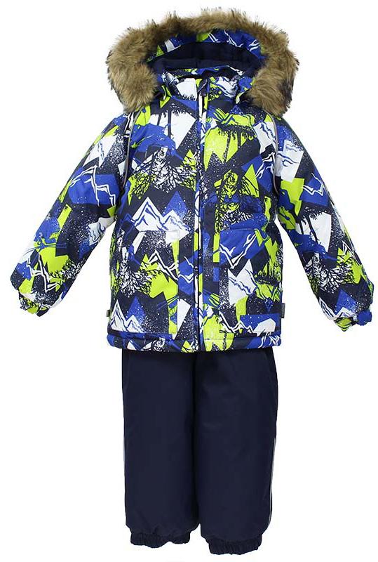 Комплект одежды детский Huppa Avery, цвет: синий, темно-синий. 41780030-72535. Размер 8641780030-72535Комплект для малышей AVERY. Водо и воздухонепроницаемость 10 000. Утеплитель 300 гр куртка/160 гр брюки. Подкладка фланель 100% хлопок. Отстегивающийся капюшон с мехом. Манжеты рукавов на резинке. Манжеты брюк на резинке. Добавлены петли для ступней. Резиновые подтяжки. Имеются светоотражательные элементы.