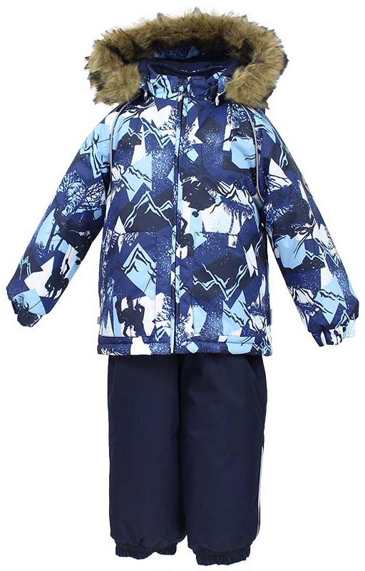 Комплект одежды для мальчика Huppa Avery: куртка, полукомбинезон, цвет: темно-синий. 41780030-72586. Размер 92