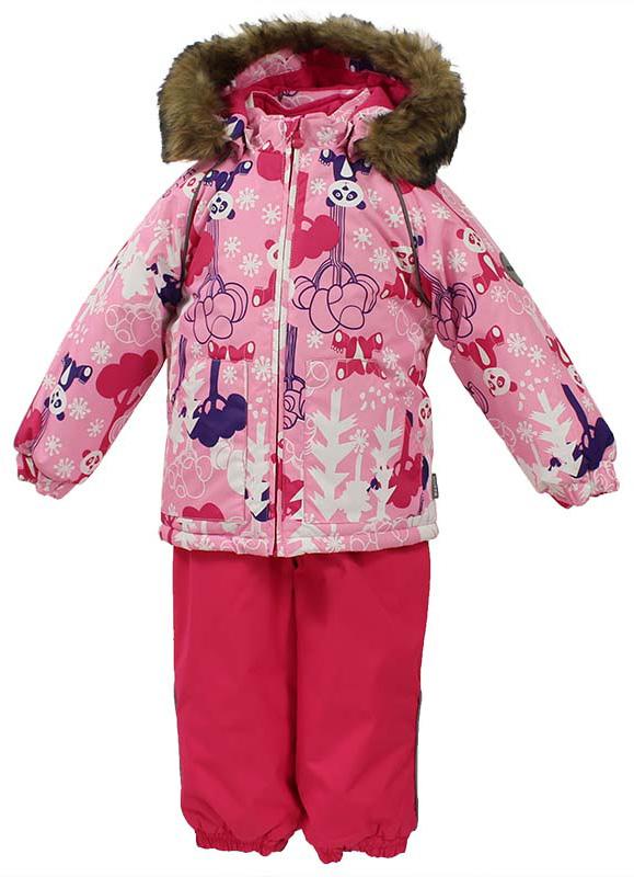 Комплект одежды для девочек Huppa Avery, цвет: розовый, фуксия. 41780030-73213. Размер 8641780030-73213Комплект для малышей AVERY. Водо и воздухонепроницаемость 5 000 куртка / 10 000 брюки. Утеплитель 300 гр куртка/160 гр брюки. Подкладка фланель 100% хлопок. Отстегивающийся капюшон с мехом. Манжеты рукавов на резинке. Манжеты брюк на резинке. Добавлены петли для ступней. Резиновые подтяжки. Имеются светоотражательные элементы.