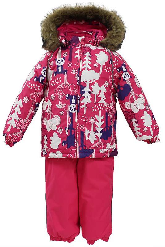 Комплект одежды для девочки Huppa Avery: куртка, полукомбинезон, цвет: фуксия. 41780030-73263. Размер 10441780030-73263Комплект одежды Huppa Avery состоит из куртки и полукомбинезона. Куртка оснащена ветрозащитной планкой по всей длине молнии с защитой подбородка, безопасным съемным капюшоном. Полукомбинезон очень практичен: хорошо закрывает грудку и спинку ребенка, широкие эластичные регулируемые лямки. Вечерние прогулки в этом костюме будут не только приятными, но и безопасными благодаря светоотражающим элементам на куртке и полукомбинезоне.