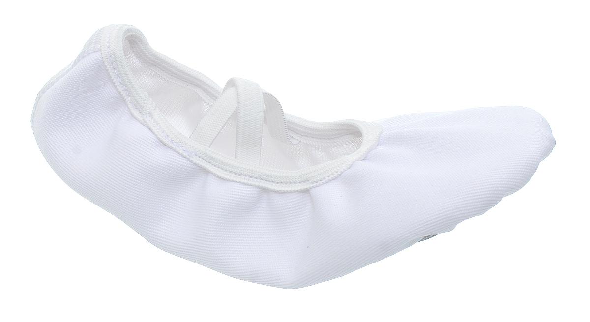 Чешки детские Авантаж, цвет: белый. 102.1. Размер 34102.1Чешки детские Авантаж предназначены для занятий танцами, хореографией и гимнастики. Модель изготовлена из текстиля, благодаря чему они впитывают влагу и позволяют коже ног дышать. Стелька из уплотненного текстиля обеспечит комфорт и уют. Обувь фиксируются на ноге при помощи двух эластичных резинок.