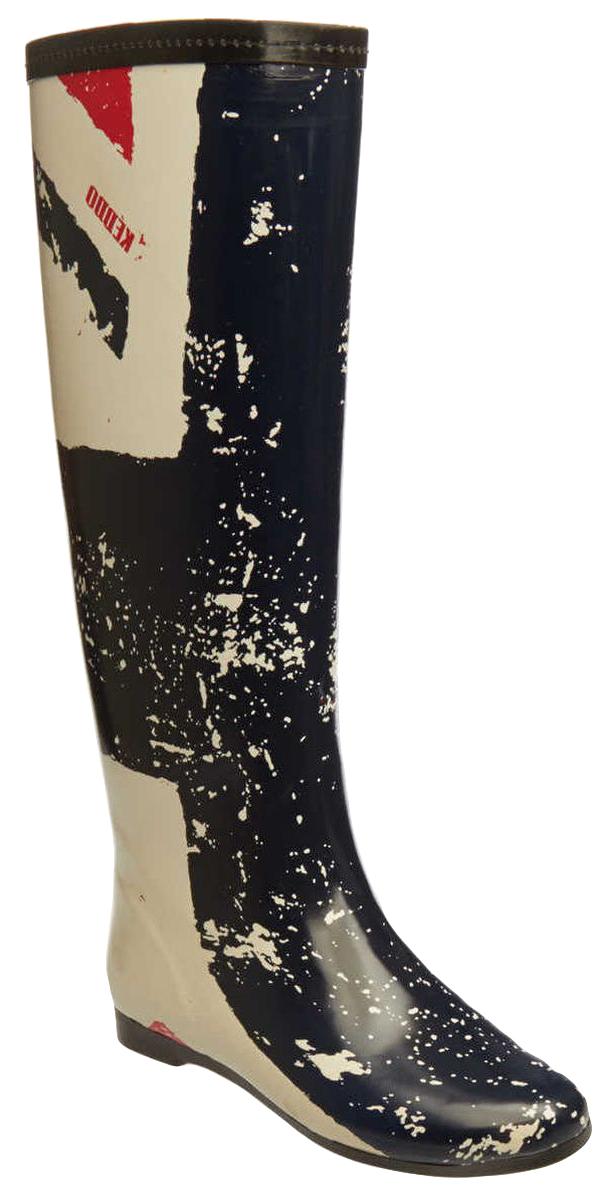 Резиновые сапоги женские Keddo, цвет: белый, синий. 18572/101#01. Размер 4018572/101#01Резиновые сапоги от Keddo изготовлены из высококачественной резины и оформлены оригинальным принтом. Внутренняя поверхность и стелька изготовлены из мягкого ворсина, комфортного при движении. Подошва изготовлена из резины, а ее рифление гарантирует отличное сцепление с любой поверхностью.