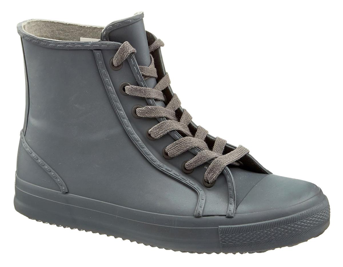 Резиновые сапоги женские Keddo, цвет: темно-серый. 867712/01-07. Размер 37867712/01-07Резиновые сапоги от Keddo изготовлены из высококачественной резины и оформлены в виде кед. Классическая шнуровка надежно закрепит обувь на ноге. Внутренняя поверхность и стелька изготовлены из мягкого текстиля, комфортного при движении. Подошва изготовлена из резины, а ее рифление гарантирует отличное сцепление с любой поверхностью.