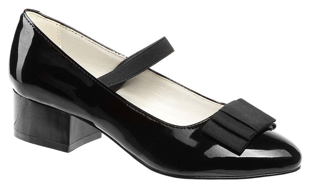 Туфли для девочки Betsy, цвет: черный. 978309/02-01. Размер 36978309/02-01Модные туфли для девочки от Betsy выполнены из искусственной кожи и дополнены на мысе бантиком. Эластичная резинка надежно зафиксирует ножку ребенка. Внутренняя поверхность и стелька из натуральной кожи гарантируют комфорт при движении. Подошва и невысокий каблук с рифлением гарантируют отличное сцепление с различными поверхностями. Модные туфли покорят своим оригинальным дизайном и удобством.