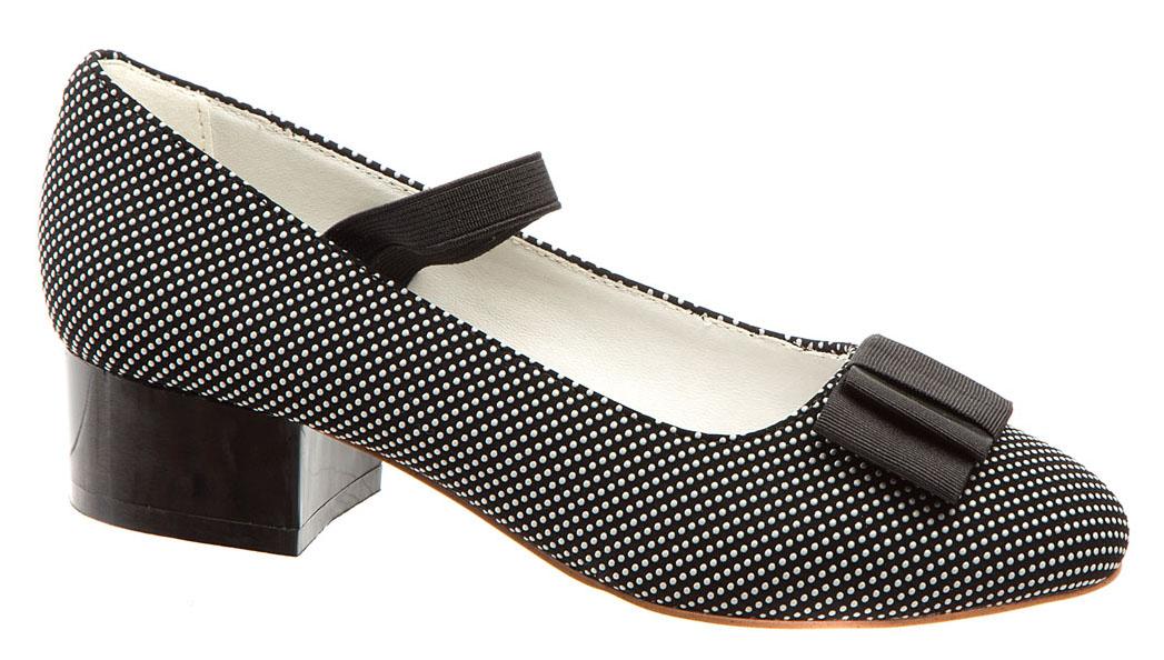Туфли для девочки Betsy, цвет: черный, белый. 978309/02-04. Размер 38978309/02-04Модные туфли для девочки от Betsy выполнены из искусственной кожи и дополнены на мысе бантиком. Эластичная резинка надежно зафиксирует ножку ребенка. Внутренняя поверхность и стелька из натуральной кожи гарантируют комфорт при движении. Подошва и невысокий каблук с рифлением гарантируют отличное сцепление с различными поверхностями. Модные туфли покорят своим оригинальным дизайном и удобством.