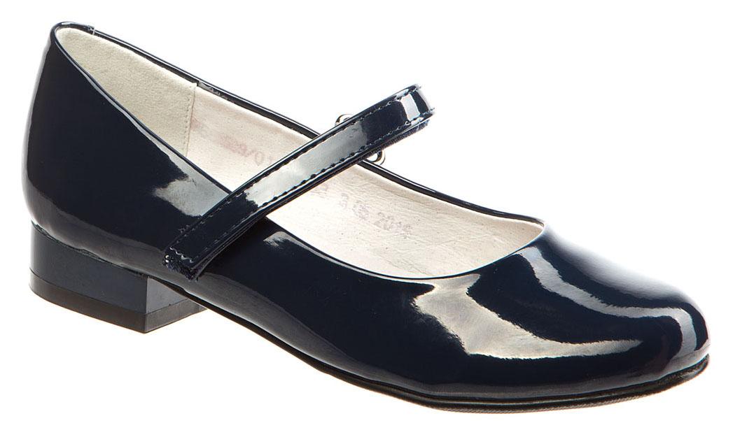 Туфли для девочки Betsy, цвет: темно-синий. 978312/01-05. Размер 34978312/01-05Модные туфли для девочки от Betsy выполнены из искусственной кожи. Ремешок с застежкой-липучкой надежно зафиксирует ножку ребенка. Внутренняя поверхность и стелька из натуральной кожи гарантируют комфорт при движении. Подошва и невысокий каблук с рифлением гарантируют отличное сцепление с различными поверхностями. Модные туфли покорят своим оригинальным дизайном и удобством.