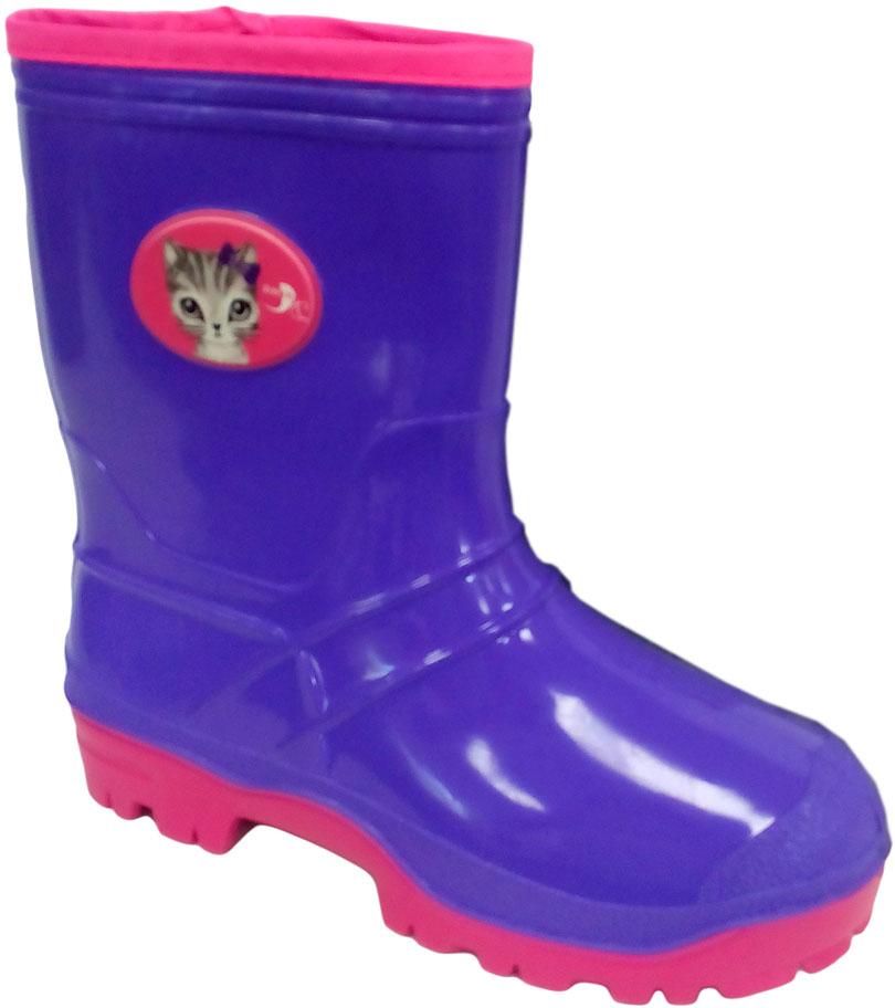 Сапоги резиновые для девочки Дюна, цвет: сиреневый, розовый. 265/01 У (НТП). Размер 35265/01 У (НТП)Прелестные резиновые сапоги Дюна - идеальная обувь в дождливую погоду для вашего ребенка. Сапоги, выполненные из резины, на голенище дополнены - накладкой с изображением кота. Подкладка и стелька из текстиля обеспечат комфорт. Подошва с рифлением гарантируют отличное сцепление с любой поверхностью. Резиновые сапоги - необходимая вещь в гардеробе каждого ребенка.