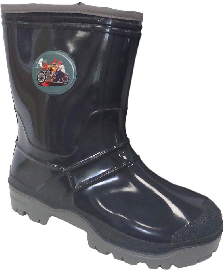Сапоги резиновые для мальчика Дюна, цвет: темно-серый. 265/01 У (НТП). Размер 38265/01 У (НТП)Прелестные резиновые сапоги Дюна - идеальная обувь в дождливую погоду для вашего ребенка. Сапоги, выполненные из резины, на голенище дополнены - накладкой с изображением рокера. Подкладка и стелька из текстиля обеспечат комфорт. Подошва с рифлением гарантируют отличное сцепление с любой поверхностью. Резиновые сапоги - необходимая вещь в гардеробе каждого ребенка.
