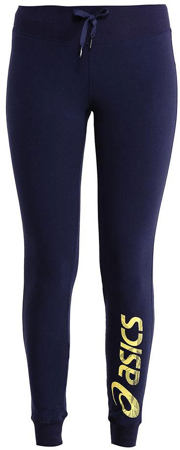 Брюки спортивные женские Asics Gym Pant, цвет: темно-синий, желтый. 142921-0891. Размер XS (42)142921-0891Женские спортивные брюки Asics Gym Pant подарят вам особенный комфорт во время и после нагрузки. Модель изготовлена из хлопка с добавлением полиэстера. Стильные брюки не сковывают движений. Широкий эластичный пояс, дополненный шнурком-кулиской, отвечает за идеальную посадку. Низ брючин обработан эластичными манжетами. Такие брюки послужат отличным дополнением к вашему спортивному гардеробу, в них вы будете чувствовать себя комфортно и уютно.