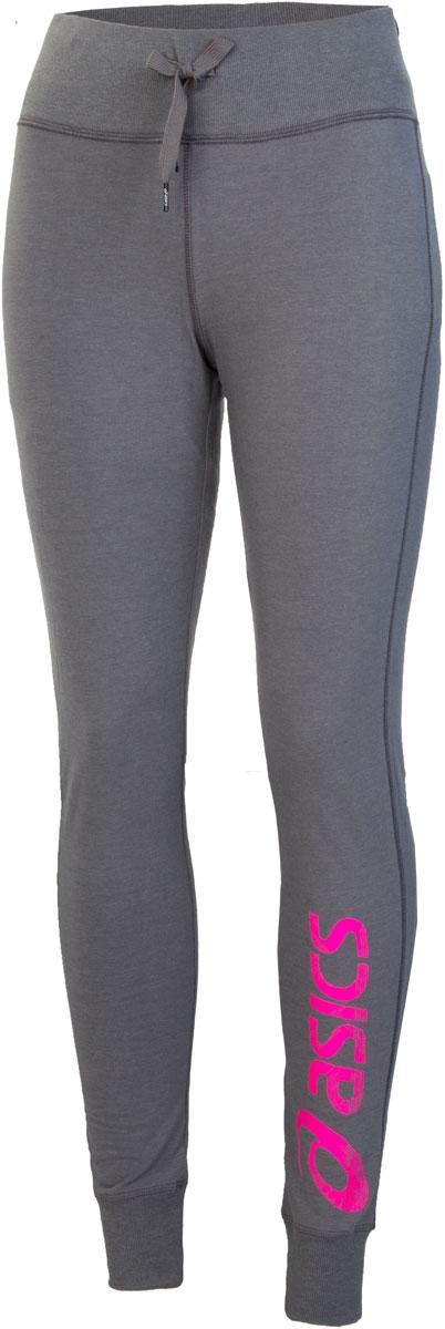 Брюки спортивные женские Asics Gym Pant, цвет: серый, розовый. 142921-0798. Размер M (46/48)142921-0798Женские спортивные брюки Asics Gym Pant подарят вам особенный комфорт во время и после нагрузки. Модель изготовлена из хлопка с добавлением полиэстера. Стильные брюки не сковывают движений. Широкий эластичный пояс, дополненный шнурком-кулиской, отвечает за идеальную посадку. Низ брючин обработан эластичными манжетами. Такие брюки послужат отличным дополнением к вашему спортивному гардеробу, в них вы будете чувствовать себя комфортно и уютно.