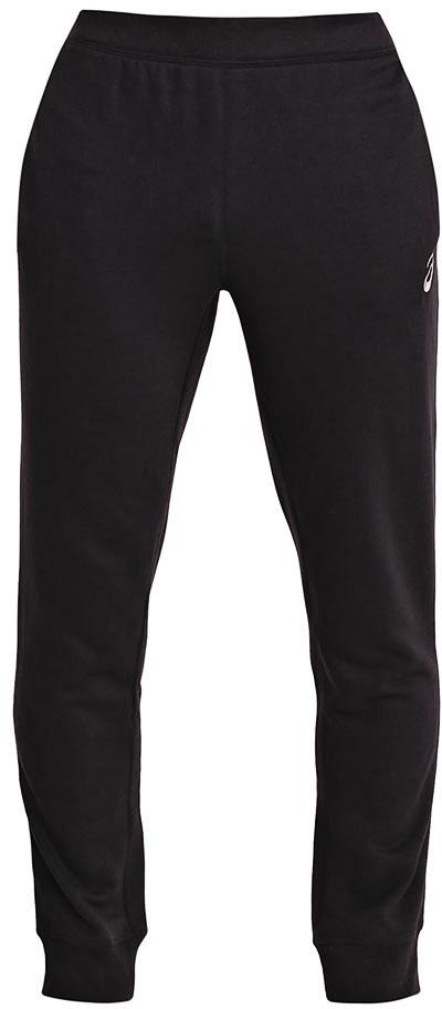 Брюки спортивные мужские Asics Essentials Pant, цвет: черный. 134795-0904. Размер M (48/50)134795-0904Мужские спортивные брюки Asics Essentials Pant подарят вам особенный комфорт во время и после нагрузки. Модель изготовлена из полиэстера с добавлением вискозы. Стильные брюки не сковывают движений. Низ брючин обработан эластичными манжетами. Такие брюки послужат отличным дополнением к вашему спортивному гардеробу, в них вы будете чувствовать себя комфортно и уютно.