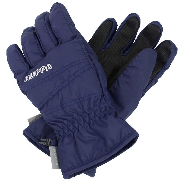 Перчатки детские Huppa Keran, цвет: темно-синий. 8215BASE-60086. Размер 48215BASE-60086Детские перчатки Huppa Keran выполнены из водонепроницаемого материала - высококачественного полиэстера. Утеплитель и подкладка из полиэстера не дадут рукам замерзнуть. Манжеты присборены на резинки. Такие перчатки отлично подойдут для повседневных прогулок в холодную погоду.