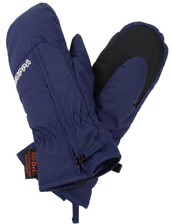 Варежки детские Huppa Mia, цвет: темно-синий. 8164BASE-00086. Размер 28164BASE-00086Детские варежки Huppa Mia, изготовленные из высококачественного полиэстера, станут идеальным вариантом, для холодной зимней погоды. Первоклассный мембранный материал с теплой мягкой флисовой подкладки, а также наполнитель из синтепона надежно сохранят тепло и не дадут ручкам вашего малыша замерзнуть.Варежки дополнены удлиненными манжетами, которые помогут предотвратить попадание снега и влаги. На запястьях варежки собраны на эластичные резинки, что обеспечивает комфортную и надежную посадку. Изделие дополнено застежками-молниями.