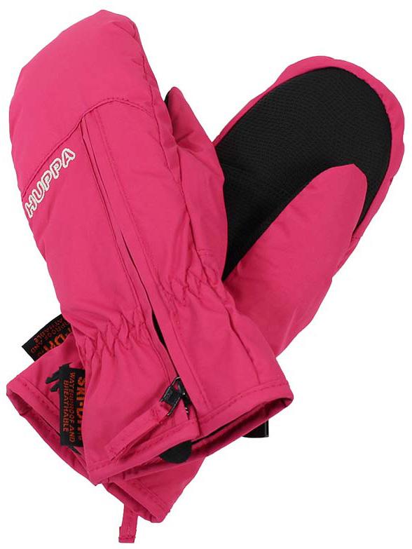 Варежки детские Huppa Mia, цвет: фуксия. 8164BASE-00063. Размер 48164BASE-00063Детские варежки Huppa Mia, изготовленные из высококачественного полиэстера, станут идеальным вариантом, для холодной зимней погоды. Первоклассный мембранный материал с теплой мягкой флисовой подкладки, а также наполнитель из синтепона надежно сохранят тепло и не дадут ручкам вашего малыша замерзнуть.Варежки дополнены удлиненными манжетами, которые помогут предотвратить попадание снега и влаги. На запястьях варежки собраны на эластичные резинки, что обеспечивает комфортную и надежную посадку. Изделие дополнено застежками-молниями.