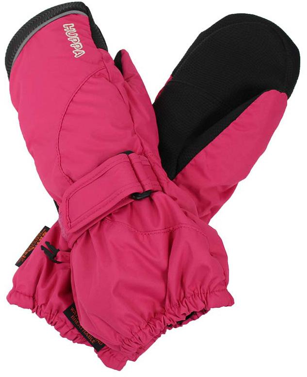 Варежки детские Huppa Maggie, цвет: фуксия. 8170BASE-60063. Размер 78170BASE-60063Детские варежки Huppa Maggie, изготовленные из высококачественного полиэстера, станут идеальным вариантом, для холодной зимней погоды. Первоклассный мембранный материал и промежуточный слой SKY-DRY с теплой мягкой флисовой подкладки, а также наполнитель из синтепона надежно сохранят тепло и не дадут ручкам вашего малыша замерзнуть.Варежки дополнены удлиненными манжетами, которые помогут предотвратить попадание снега и влаги. На запястьях варежки собраны на эластичные резинки, что обеспечивает комфортную и надежную посадку. Изделие дополнено хлястиками на липучках, которые позволяют регулировать обхват манжет. С внешней стороны варежки оформлены светоотражающим принтом.