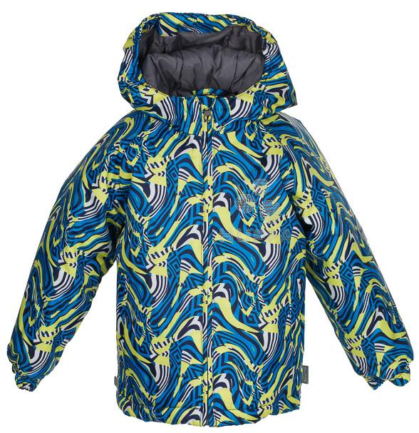 Куртка детская Huppa Classy, цвет: синий, желтый, черный. 17710030-486. Размер 11017710030-486Детская куртка Huppa изготовлена из водонепроницаемого полиэстера. Куртка с капюшоном застегивается на пластиковую застежку-молнию с защитой подбородка. Края капюшона и рукавов собраны на внутренние резинки. У модели имеются два врезных кармана. Изделие дополнено светоотражающими элементами.
