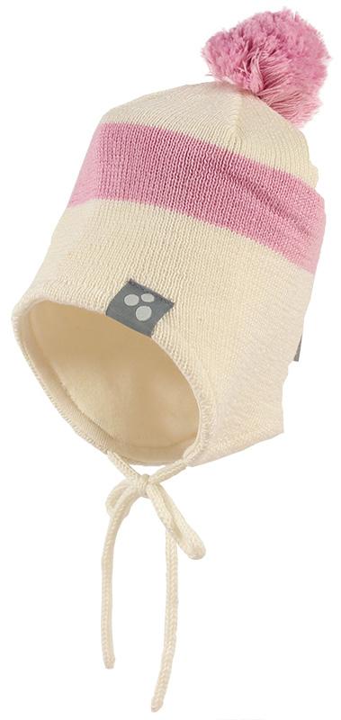 Шапка детская Huppa Viiro 1, цвет: белый, розовый. 83620100-70020. Размер XS (43/45)83620100-70020Теплая шапка Huppa Viiro 1 выполнена из мериносовой шерсти с добавлением акрила. Подкладка выполнена из натурального хлопка. Модель дополнена небольшим помпоном и оснащена завязками.Уважаемые клиенты! Обращаем ваше внимание на тот факт, что размер, доступный для заказа, является обхватом головы.