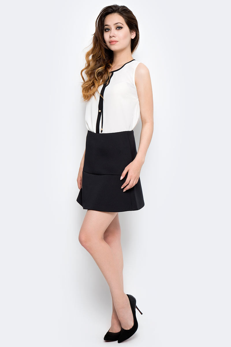 Юбка женская Sela, цвет: черный. SKk-318/854-7310. Размер XS (42)SKk-318/854-7310Женская юбка Sela выполнена из высококачественного материала. Модель стандартной посадки.