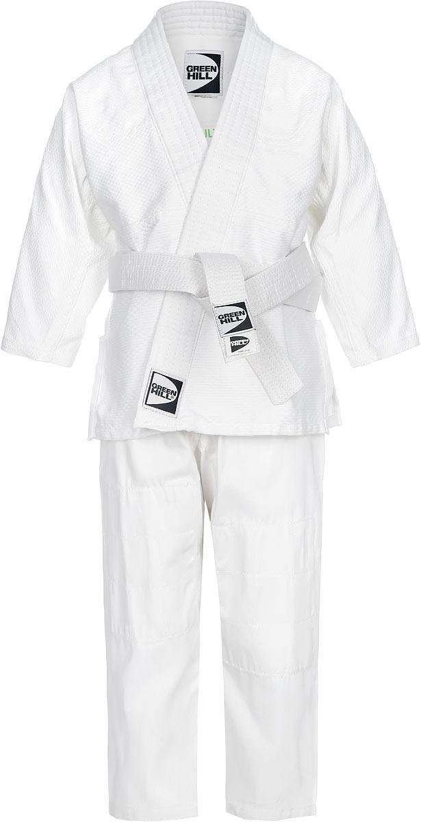 Кимоно для дзюдо детское Green Hill Adult, цвет: белый. JSA-10429. Размер 000/110JSA-10429_детскоеКимоно предназначено для использования на интенсивных тренировках, начинающих спортсменов. Куртка усилена двойными швами на плечах, рукавах и груди.