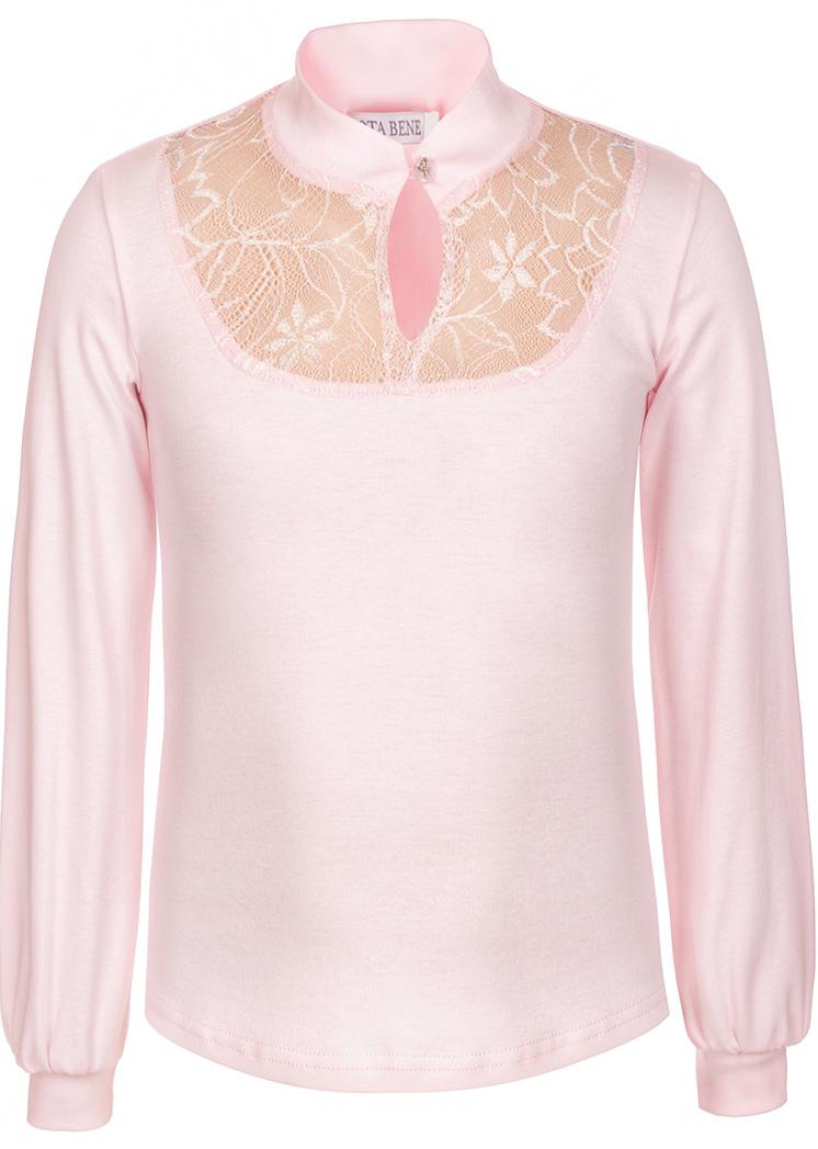 Блузка для девочки Nota Bene, цвет: розовый. CJR270463A05. Размер 122CJR270463A05Блузка для девочки Nota Bene изготовлена из натурального хлопка. Модель с воротником-стойкой и длинными рукавами застегивается спереди на пуговицу. На рукавах предусмотрены манжеты. Блузка дополнена кружевными вставками.