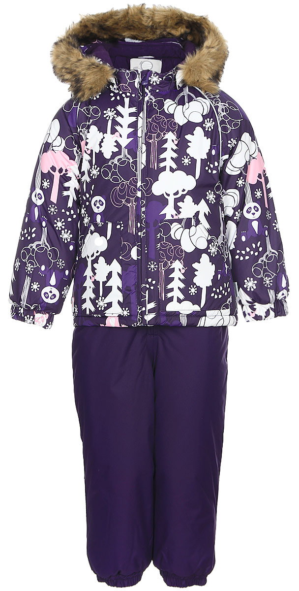 Комплект одежды для девочки Huppa Avery: куртка, полукомбинезон, цвет: темно-лилoвый. 41780030-73273. Размер 9841780030-73273Комплект одежды Huppa Avery состоит из куртки и полукомбинезона. Куртка оснащена ветрозащитной планкой по всей длине молнии с защитой подбородка, безопасным съемным капюшоном. Полукомбинезон очень практичен: хорошо закрывает грудку и спинку ребенка, широкие эластичные регулируемые лямки. Вечерние прогулки в этом костюме будут не только приятными, но и безопасными благодаря светоотражающим элементам на куртке и полукомбинезоне.