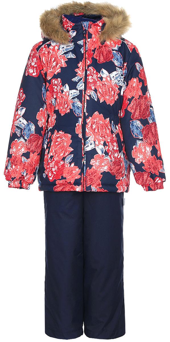 Комплект одежды для девочки Huppa Wonder: куртка, полукомбинезон, цвет: темно-синий. 41950030-71586. Размер 11041950030-71586Комплект одежды Huppa Wonder состоит из куртки и полукомбинезона. Куртка оснащена ветрозащитной планкой по всей длине молнии с защитой подбородка и безопасным съемным капюшоном. Полукомбинезон очень практичен: хорошо закрывает грудку и спинку ребенка. Вечерние прогулки в этом костюме будут не только приятными, но и безопасными благодаря светоотражающим элементам на куртке и полукомбинезоне.