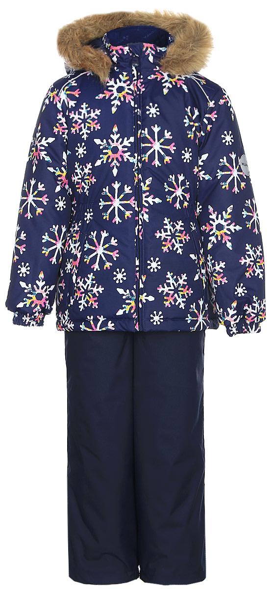 Комплект одежды для девочки Huppa Wonder: куртка, полукомбинезон, цвет: темно-синий. 41950030-71686. Размер 10441950030-71686Комплект одежды Huppa Wonder состоит из куртки и полукомбинезона. Куртка оснащена ветрозащитной планкой по всей длине молнии с защитой подбородка и безопасным съемным капюшоном. Полукомбинезон очень практичен: хорошо закрывает грудку и спинку ребенка. Вечерние прогулки в этом костюме будут не только приятными, но и безопасными благодаря светоотражающим элементам на куртке и полукомбинезоне.