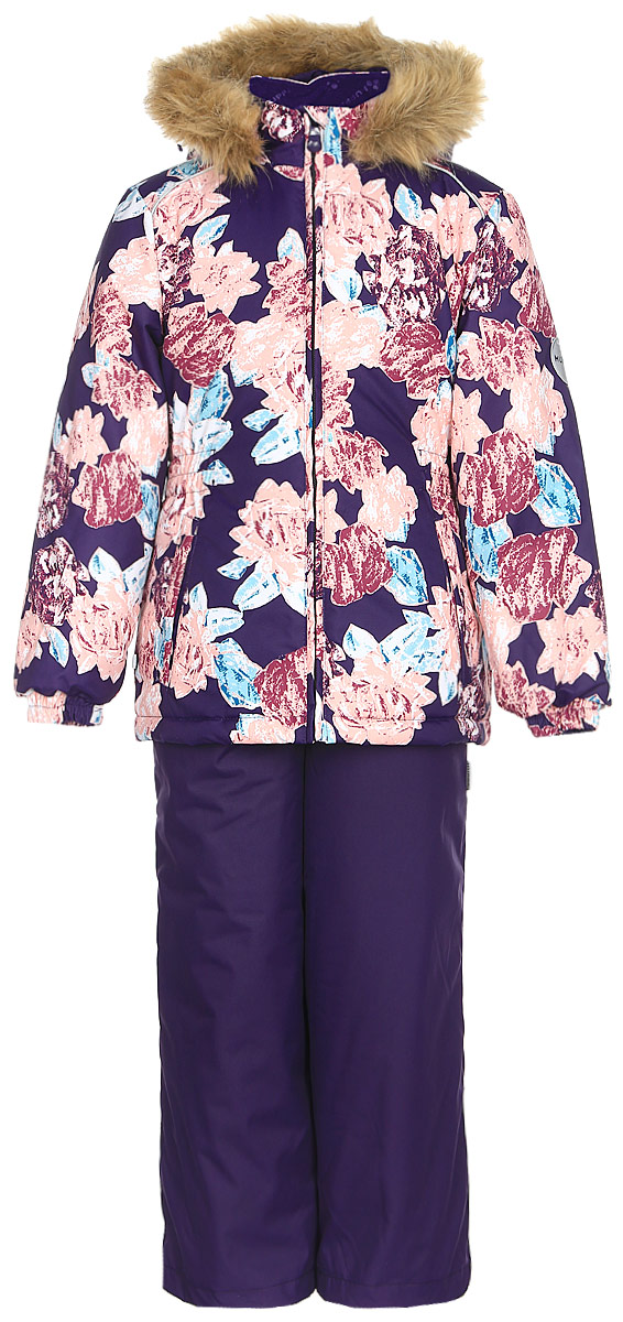 Комплект одежды для девочки Huppa Wonde: куртка, полукомбинезон, цвет: темно-лилoвый. 41950030-71573. Размер 12241950030-71573Комплект одежды Huppa Wonder состоит из куртки и полукомбинезона. Куртка оснащена ветрозащитной планкой по всей длине молнии с защитой подбородка и безопасным съемным капюшоном. Полукомбинезон очень практичен: хорошо закрывает грудку и спинку ребенка. Вечерние прогулки в этом костюме будут не только приятными, но и безопасными благодаря светоотражающим элементам на куртке и полукомбинезоне.