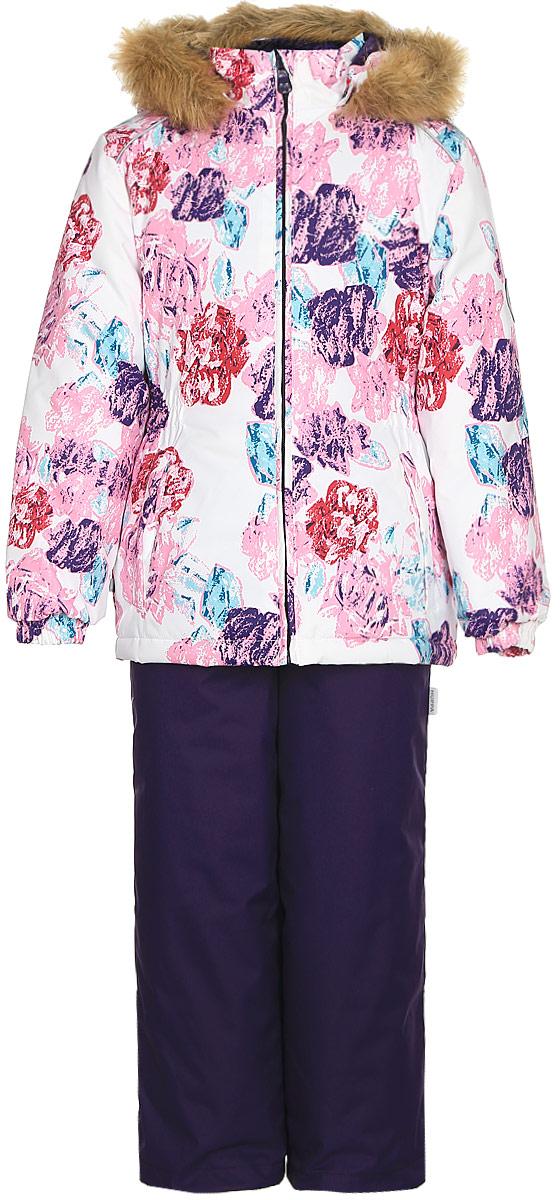 Комплект одежды для девочки Huppa Wonder: куртка, полукомбинезон, цвет: белый, темно-лилoвый. 41950030-71520. Размер 11041950030-71520Комплект одежды Huppa Wonder состоит из куртки и полукомбинезона. Куртка оснащена ветрозащитной планкой по всей длине молнии с защитой подбородка и безопасным съемным капюшоном. Полукомбинезон очень практичен: хорошо закрывает грудку и спинку ребенка. Вечерние прогулки в этом костюме будут не только приятными, но и безопасными благодаря светоотражающим элементам на куртке и полукомбинезоне.