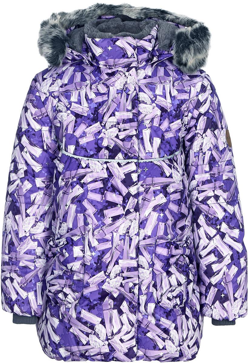 Куртка для девочки Huppa Olivia, цвет: лилoвый. 17890030-71453. Размер 11017890030-71453Куртка для девочки Huppa изготовлена из водонепроницаемого полиэстера. Куртка застегивается на застежку-молнию и кнопки. Модель дополнена отстегивающимся капюшоном с мехом. Изделие дополнено светоотражающими элементами.