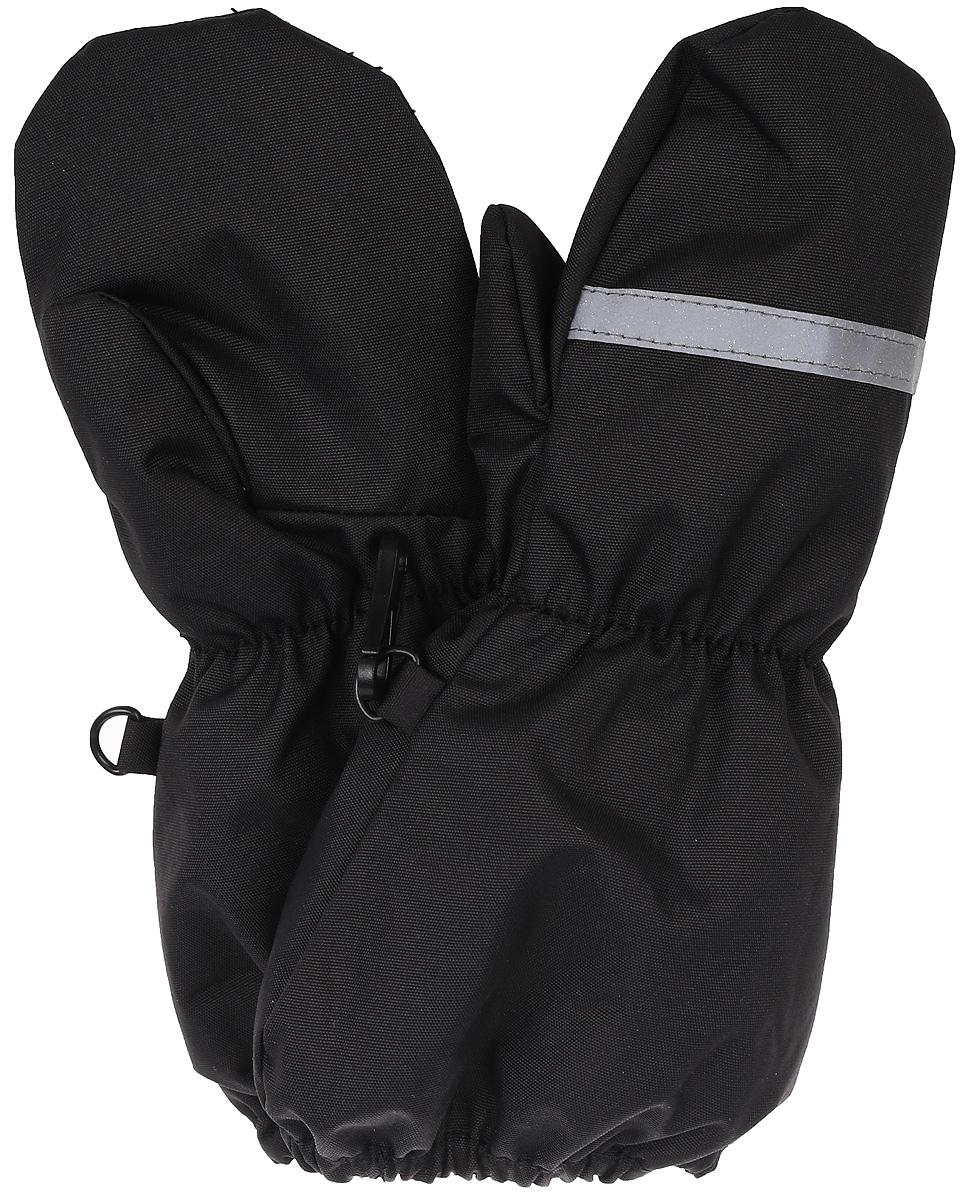 Варежки детские Huppa Ron, цвет: черный. 8115BASE-00009. Размер 28115BASE-00009Детские варежки RON. Водо и воздухонепроницаемость 10 000. Утеплитель 90 гр. Отлично подойдут для повседневных прогулок в холодную погоду.