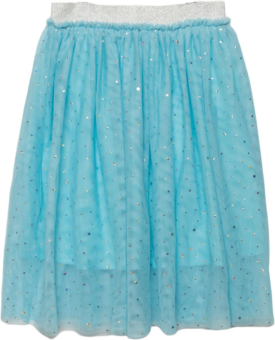 Юбка для девочки Sela, цвет: пастельно-голубой. SK-618/146-7340. Размер 128, 8 летSK-618/146-7340Пышная юбка Sela для девочки выполнена из легкого сетчатого материала. Пояс на мягкой резинке обеспечивает максимальное удобство. Модель украшена стразами.