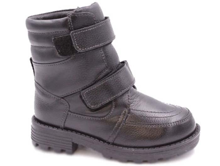 Сапоги для мальчика Зебра, цвет: черный. 10001-1. Размер 3210001-1Стильные сапоги от Зебра придутся по душе юному моднику! Модель изготовлена из натуральной кожи. Обувь оформлена прострочкой. Сапоги застегиваются на ремешки с застежками-липучками. Внутренняя поверхность и стелька выполнены из натурального меха, благодаря которому тепло сохраняется лучше. Протектор на подошве гарантирует идеальное сцепление с любой поверхностью. Модные и удобные сапоги займут достойное место в гардеробе вашего ребенка.