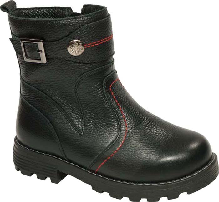 Ботинки для мальчика Зебра, цвет: черный. 11200-1. Размер 3211200-1Ботинки для мальчика от Зебра выполнены из натуральной кожи. На одной из боковых сторон расположена застежка-молния. Мягкая подкладка и стелька из натурального меха обеспечивают тепло, циркуляцию воздуха и сохраняют комфортный микроклимат в обуви. Подошва с рифлением гарантирует идеальное сцепление с любыми поверхностями.