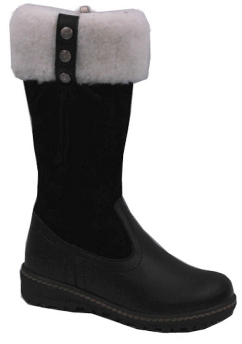 Сапоги для девочки Зебра, цвет: черный. 11218-1. Размер 3511218-1Сапоги от Зебра выполнены из натуральной кожи и замши. Модель оформлена меховой опушкой по верхнему краю голенища. На ноге модель фиксируется с помощью боковой застежки-молнии. Подкладка и стелька выполнены из натурального меха, который обеспечит тепло и уют. Подошва изготовлена из прочного ТЭП-материала и дополнена протектором, который гарантирует отличное сцепление с любой поверхностью.