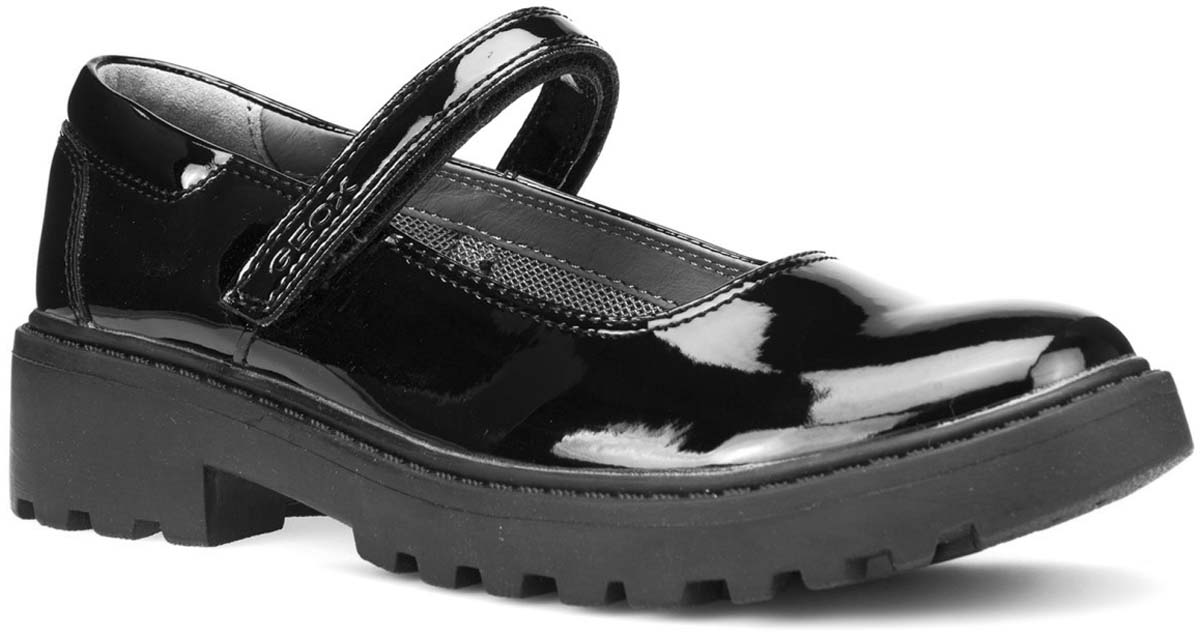 Туфли для девочки Geox, цвет: черный. J6420P000HHC9999. Размер 32J6420P000HHC9999Туфли от Geox выполнены из искусственной кожи. Ремешок с застежкой-липучкой надежно зафиксирует модель на ноге. Стелька, изготовленная из натуральной кожи, гарантирует дополнительный комфорт и предотвращает натирание. Подошва оснащена рифлением для лучшей сцепки с поверхностью.