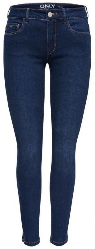 Джинсы женские Only, цвет: темно-синий. 15138621_Dark Blue Denim. Размер 26-32 (42-32)15138621_Dark Blue DenimСтильные джинсы Only выполнены из хлопка и полиэстера с добавлением вискозы и эластана. Модель силуэта скинни и со стандартной посадкой имеет классический пятикарманный крой: два втачных и один небольшой накладной кармашек спереди, два накладных кармана сзади. Пояс дополнен шлевками. Модель застегивается на гульфик с молнией и пуговицу.