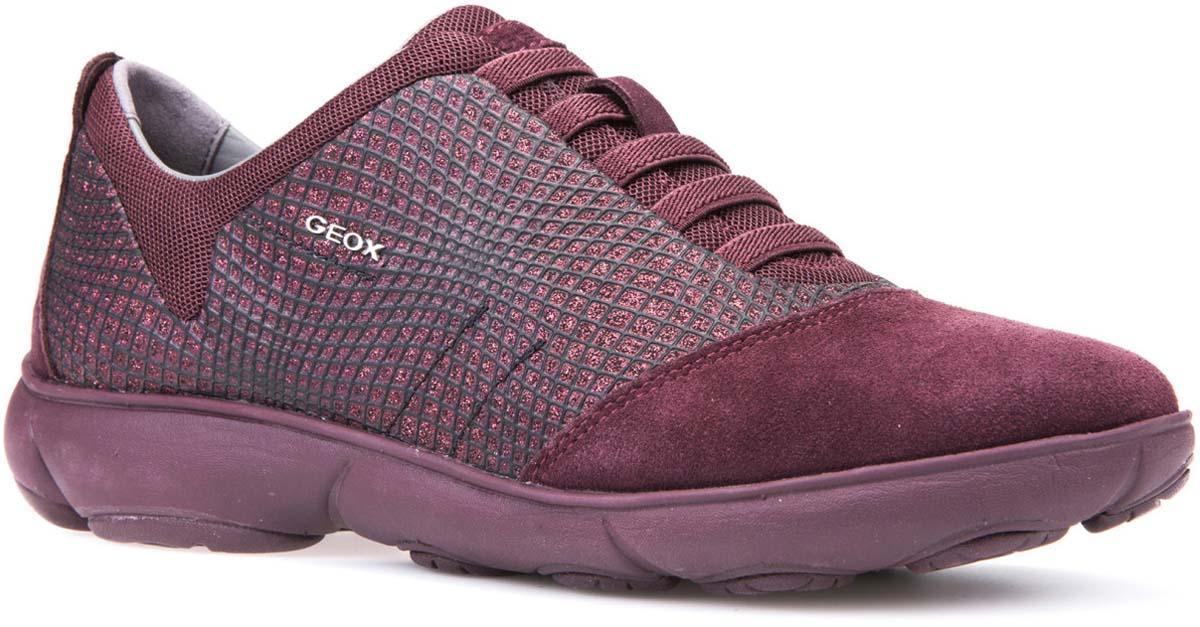 Кроссовки женские Geox, цвет: бордовый. D741EA09L22C7357. Размер 37D741EA09L22C7357Стильные женские кроссовки от Geox придутся вам по душе. Верх модели выполнен из высококачественных материалов. Модель оформлена принтом. Эластичные шнурки надежно зафиксируют изделие на ноге. Стелька из натуральной кожи обеспечивает комфорт. Подошва оснащена рифлением для лучшей сцепки с поверхностями. Удобные кроссовки займут достойное место среди коллекции вашей обуви.