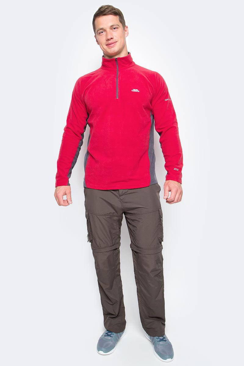 Толстовка мужская Trespass Tron, цвет: красный. MAFLMFG20001. Размер M (50)MAFLMFG20001Великолепная мужская толстовка Trespass Tron выполнена из полиэстера. Модель с длинными рукавами реглан и воротником-стойкой. Модель спереди застегивается на молнию.